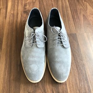 Johnston and Murphy Dress Shoes Grey Suede 12